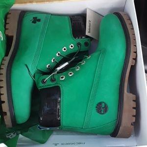 Celtics Timberland premium Waterproof green